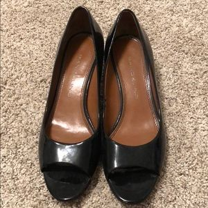 Bandolino peep toe pumps with kitten heel.